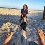 Brunswick Heads Beach sea-saw!