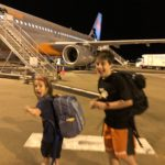 Boarding the flight from Brisbane to Cairns