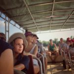 On the Pathfinder tour boat down the Adelaide River, NT to feed crocodiles