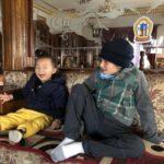 With our host's grandchild, Jangbu (Kathmandu, Nepal)