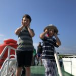 Cover the ears for the foghorn (on the way to Nusa Lembongan)