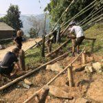 Building a platform for winter hay storage