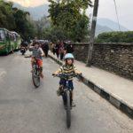 Biking through Pokhara