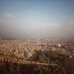 Looking east through the Kathmandu Valley (from the top of Bhat Bhateni super store))