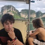 Cruising by longtail boat, Ao Nang Beach, Thailand