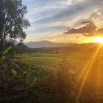 Sunset, Pai valley