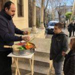 Sticky candy vendor, like taffy (Istanbul, Turkey)