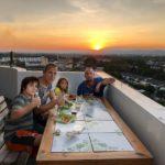 Dinner at Yonas' pad, Chiangmai sunset