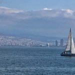 Looking across the Izmir bay
