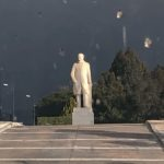 Staute of someone in Athens, Greece