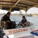 Crossing the Nile on the return from the Valley