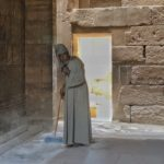 Luxor temple janitor, Egypt