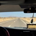 On the road through the desert to Hurghada