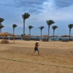 Chasing the volleyball