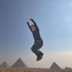 Jumping the pyramids!