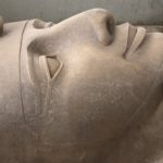 Statue detail of Ramses II at Memphis