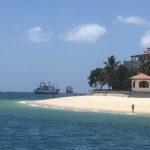 View from a floating restaurant, Zanzibar