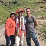 With our dear friend Silvia in Huilloc alto