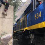 Ollantaytambo train bound for Aguas Calientes