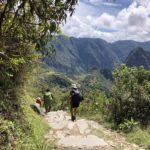 Walking down to Machu Picchu from Intipunku