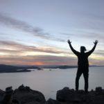 Sunset from Isla Amantani, Lake Titicaca