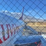 Boarding a flight from Arequipa to Lima