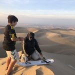 Sand boarding in the Huacachina desert